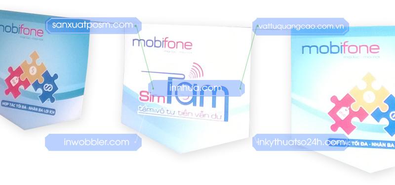 Cờ dây quảng cáo, in cờ dây Mobifone SimTám